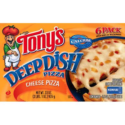 Tony's Deep Dish Cheese 6 Pack  Pizza 33 Oz Box