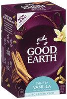 GOOD EARTH Decaffeinated Vanilla Chai Tea Tea Bags 18 CT BOX