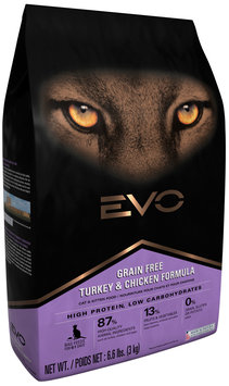 EVO Turkey & Chicken Formula Cat & Kitten Food 6.6 lb. Bag
