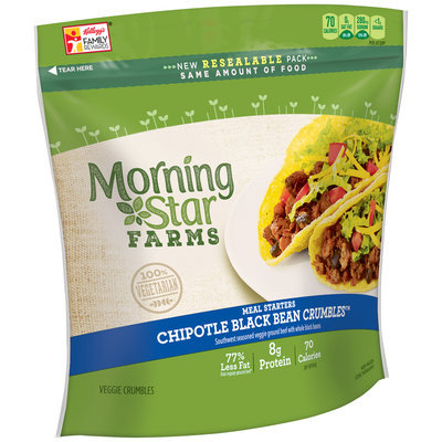 Morning Star Farms® Meal Starters® Chipotle Black Bean Crumbles™ Veggie Crumbles 12 oz. Box