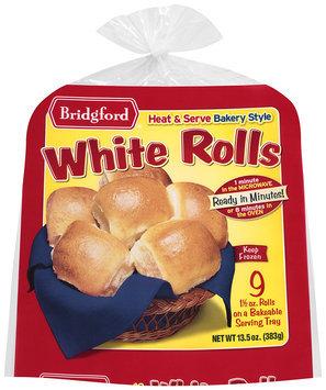 Bridgford® Bakery Style White Rolls 9 ct