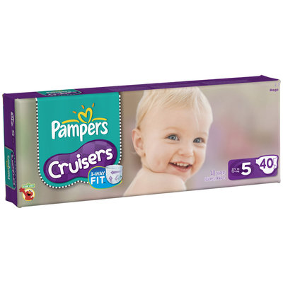 Pampers Cruisers Mega Pack Size 5 Diapers 40 ct Bag