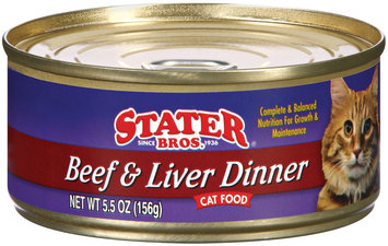 Stater Bros. Beef & Liver Dinner Cat Food 5.5 Oz Can