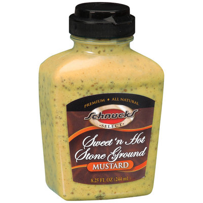 Schnucks Sweet'n Hot Stone Ground Select Mustard 8.25 Fl Oz Squeeze Bottle