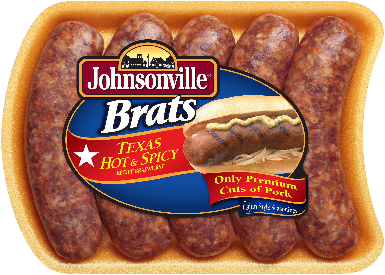 Johnsonville Texas Hot Brats 19oz tray (101861)