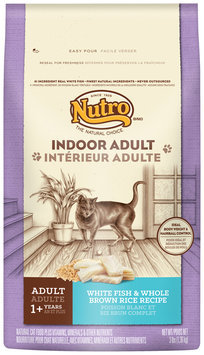 Nutro® Indoor Adult White Fish & Whole Brown Rice Recipe Cat Food 3 lb. Bag