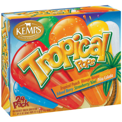 Kemps Variety Tropical Pops 24 Ct Box