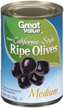 Great Value: Medium Pitted California Ripe Olives, 6 Oz
