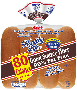 Healthy Life® Wheat Special Recipe Hot Dog Buns 8 ct. Bag