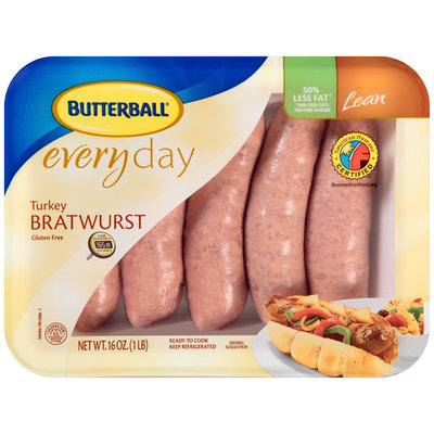 Butterball® Everyday Turkey Lean Bratwursts 5 ct Tray