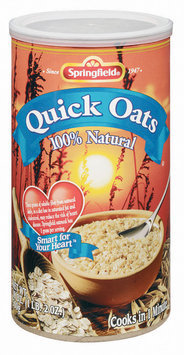Springfield Quick 100% Natural Oats 18 Oz Canister