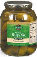 Haggen Baby Dills Fresh Pack Pickles 46 Fl Oz Jar