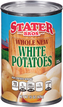 Stater Bros.® Whole New White Potatoes 15 oz. Can