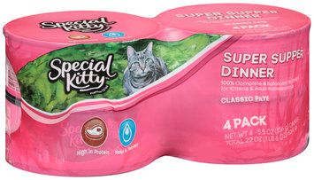 Special Kitty™ Super Supper Dinner Wet Cat Food 4-5.5 oz. Cans