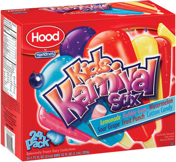 Hendrie's Kids Karnival Stix Assorted 1.75 Oz Bars Frozen Dairy Confections 24 Ct Box