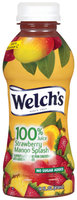 Welch's Single Serve Strawberry Mango Splash, Modified 9/10/08 100% Juice 14 Fl Oz Plastic Bottle