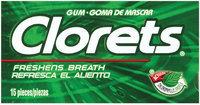 Clorets W/Actizol 15 Pieces Gum