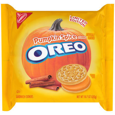Oreo Limited Edition Pumpkin Spice Creme Sandwich Cookies