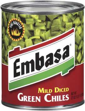 Embasa® Mild Diced Green Chiles 26 oz. Can