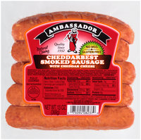 Ambassador® Cheddarbest Smoked Sausage with Cheddar Cheese 13 oz. Package