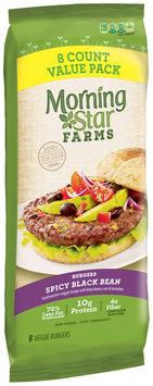 MorningStar Farms® Spicy Black Bean Burger 8 ct Pack
