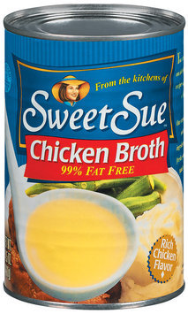 Sweet Sue Chicken 99% Fat Free Broth 14.5 Oz Can