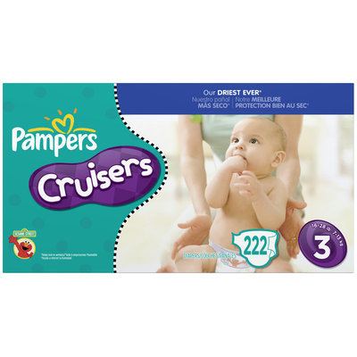 Pampers Cruisers Size 3 Diapers 222 ct Box