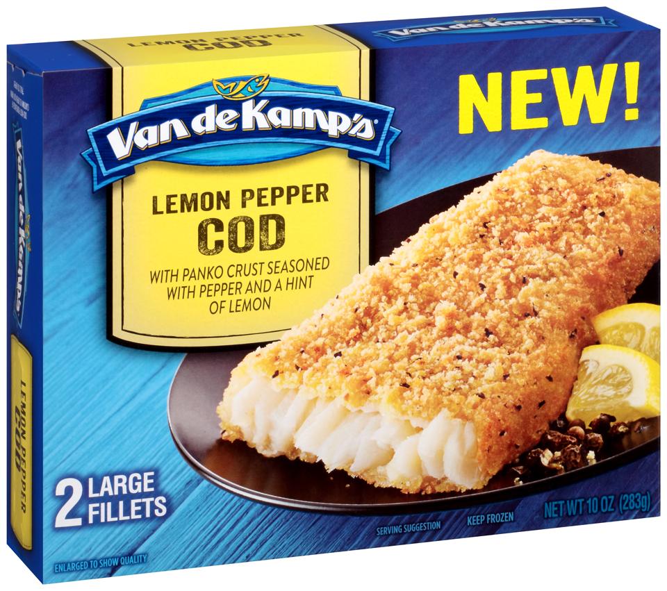 Van de Kamp's® Lemon Pepper Cod 10 oz. Box