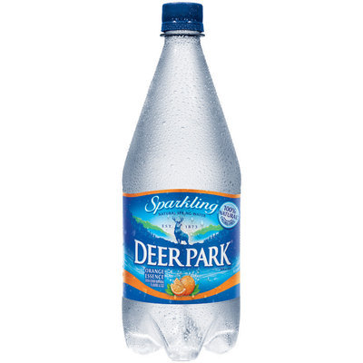 Deer Park Sparkling Natural Spring Water Orange Essence 1L Plastic Bottle