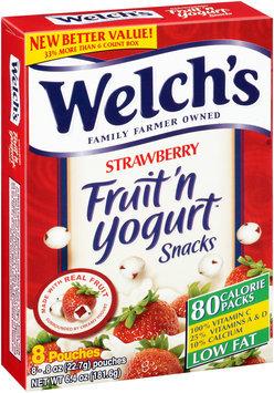 Welch's® Strawberry Fruit 'n Yogurt™ Snacks 8-.8 oz. Pouches