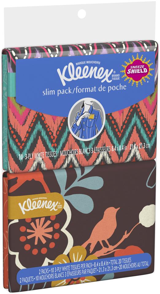 Kleenex® Brand Tissue 3-Ply Everyday Tissues 2-10 ct. Wallet Packs
