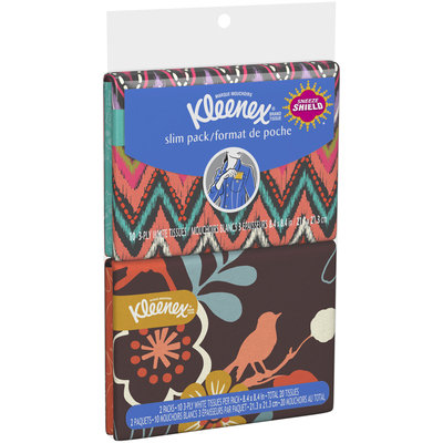 Kleenex® Brand Tissue 3-Ply Everyday Tissues 2-10 ct. Wallet Packs