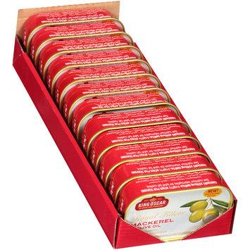 King Oscar™ Royal Fillets™ in Olive Oil Skinless & Boneless North Atlantic Mackerel 4.05 oz. Tin