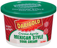 Darigold Mexican Style Sour Cream 16 Oz Tub