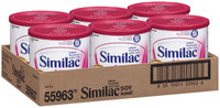 Similac Soy Isomil Soy W/Iron 12.4 Oz Canisters Infant Formula 6 Ct Box