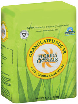 Florida Crystals Pure Florida Cane Granulated Sugar 4 Lb Stand Up Bag