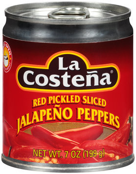 La Costena® Red Pickled Sliced Jalapeno Peppers 7 oz. Can