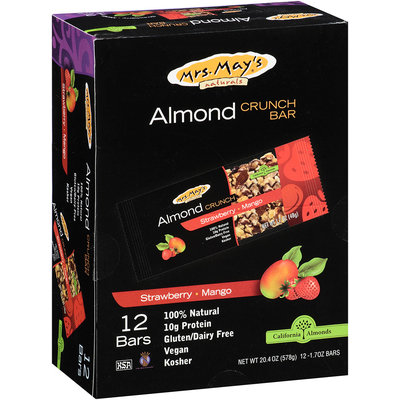 Mrs. May's® Strawberry-Mango Almond Crunch Bars 12-1.7 oz. Wrappers