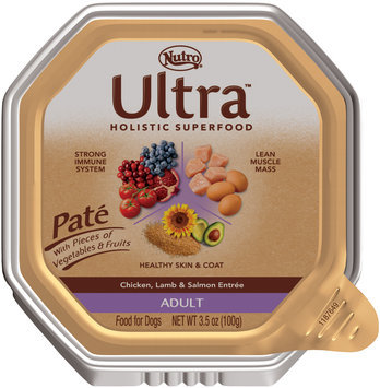 Nutro® Ultra™ Adult Pate Chicken, Lamb & Salmon Entree Dog Food 3.5 oz. Tray