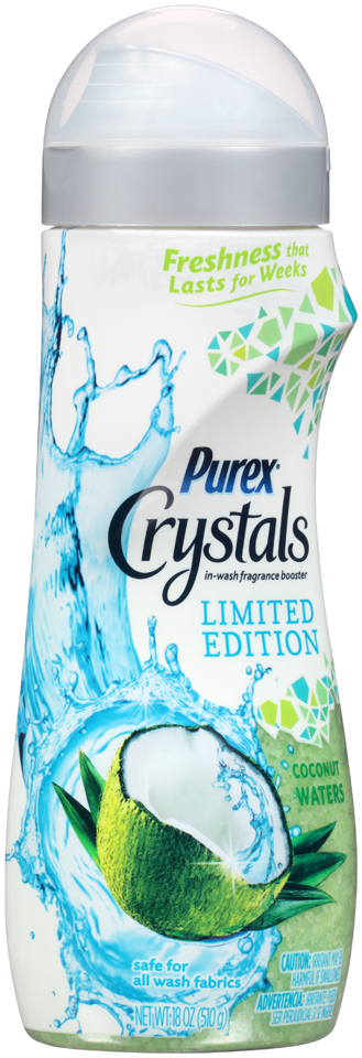 Purex® Crystals Coconut Waters In-Wash Fragrance Booster 18 oz. Bottle
