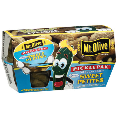 Mt. Olive Sweet Petites No Sugar Added 3.7 Oz Cups Pickle Pak 4 Ct Sleeve