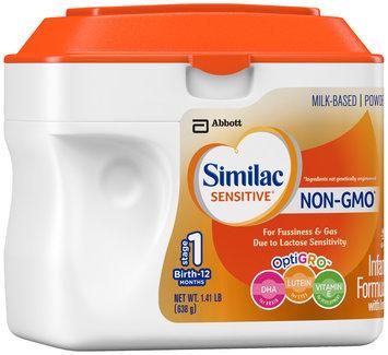 Similac Sensitive® OptiGRO™ Infant Formula with Iron 22.56 oz. Canister