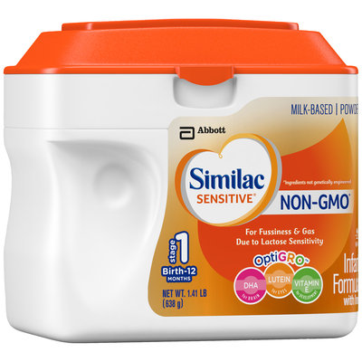 Similac Sensitive® OptiGRO™ Infant Formula with Iron 22.56 oz. Canister