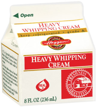 Haggen Heavy Whipping Cream 8 Oz Carton