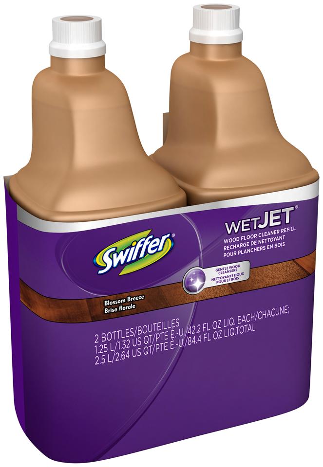WetJet Swiffer WetJet Wood Solution 1.25L Refill 2 cont, 2-42.4 fl. oz. Bottles