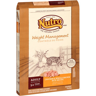 Nutro® Adult Weight Management Chicken & Whole Brown Rice Recipe Cat Food 14 lb. Bag