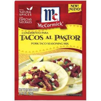 Hispanic Pork Taco McCormick Seasoning Mix .87 Oz Packet
