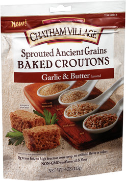 Chatham Village® Sprouted Ancient Grains Garlic & Butter Baked Croutons 4 oz.