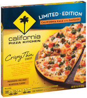 CALIFORNIA PIZZA KITCHEN Limited Edition Crispy Thin Crust California Kale with Sausage Pizza 14.1 oz. Box