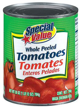 Special Value Whole Peeled Tomatoes 28 Oz Can